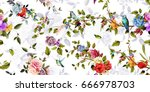 bright wide vintage seamless... | Shutterstock .eps vector #666978703