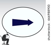 arrow indicates the direction ... | Shutterstock .eps vector #666988900