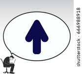 arrow indicates the direction ... | Shutterstock .eps vector #666988918