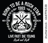 new york city   brooklyn rock... | Shutterstock .eps vector #666996538