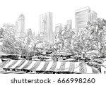 central park. new york. usa.... | Shutterstock .eps vector #666998260