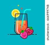 hand drawn illustration of... | Shutterstock .eps vector #666999748