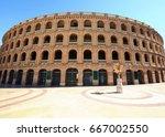 bullring arena  plaza de toros  ...   Shutterstock . vector #667002550