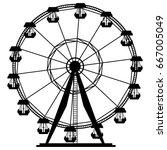 ferris wheel carousel... | Shutterstock .eps vector #667005049