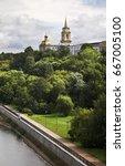 embankment in perm. russia | Shutterstock . vector #667005100
