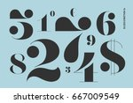 font of numbers in classical... | Shutterstock . vector #667009549