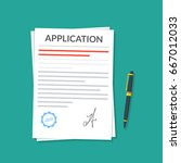 application or document with a... | Shutterstock .eps vector #667012033