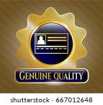 golden badge with... | Shutterstock .eps vector #667012648