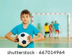 young football player ready to... | Shutterstock . vector #667014964
