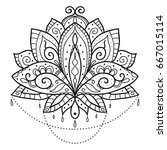 ethnic art  the ornamental... | Shutterstock .eps vector #667015114
