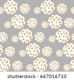 seamless cute pattern of white... | Shutterstock .eps vector #667016710
