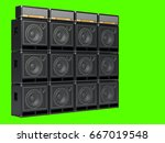 a wall of guitar amps on a... | Shutterstock . vector #667019548