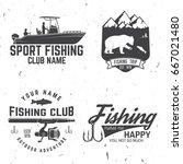 fishing club. vector... | Shutterstock .eps vector #667021480