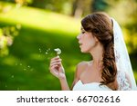 beautiful bride close up... | Shutterstock . vector #66702616