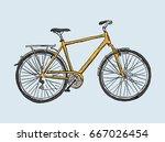 hand drawn sketch illustration... | Shutterstock .eps vector #667026454