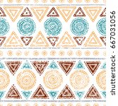 seamless tribal pattern. grunge ... | Shutterstock .eps vector #667031056