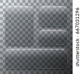 vector modern transparent glass ... | Shutterstock .eps vector #667031296