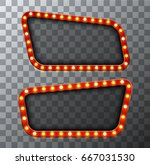 vector modern retro billboard... | Shutterstock .eps vector #667031530