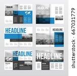 magazine or catalog template...   Shutterstock .eps vector #667031779