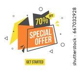 special offer banner in flat...   Shutterstock .eps vector #667032928