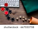 online poker. chips and the...   Shutterstock . vector #667033708