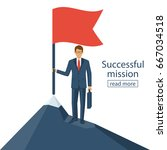 successfull mission.... | Shutterstock .eps vector #667034518