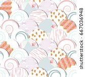 seamless pattern of  circles... | Shutterstock .eps vector #667036948