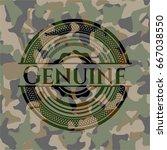 genuine on camouflaged pattern | Shutterstock .eps vector #667038550