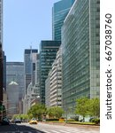 new york city park avenue... | Shutterstock . vector #667038760