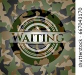 waiting on camo pattern | Shutterstock .eps vector #667043170