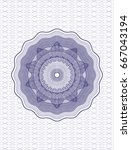 blue rosette | Shutterstock .eps vector #667043194