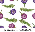 trendy seamless floral pattern... | Shutterstock .eps vector #667047658