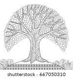 decorative tree. adult... | Shutterstock .eps vector #667050310