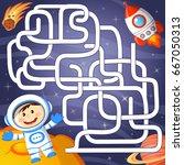 help cosmonaut find path to...   Shutterstock .eps vector #667050313