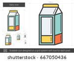 dairy vector line icon isolated ... | Shutterstock .eps vector #667050436