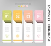 infographic template of four... | Shutterstock .eps vector #667062406