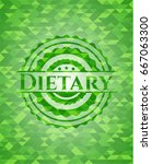dietary green emblem. mosaic... | Shutterstock .eps vector #667063300
