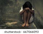 children violence and abused... | Shutterstock . vector #667066093