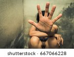 woman bondage in angle of... | Shutterstock . vector #667066228