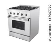 single gas range cooker with...   Shutterstock . vector #667067710