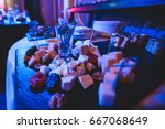 beautifully decorated catering...   Shutterstock . vector #667068649