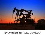 the oil pump  industrial... | Shutterstock . vector #667069600