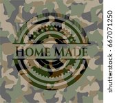 home made on camouflage pattern | Shutterstock .eps vector #667071250