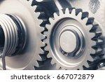engine gear wheels  industrial... | Shutterstock . vector #667072879