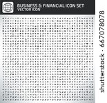 business and finance icon set... | Shutterstock .eps vector #667078078