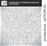 commerce and shopping icon set... | Shutterstock .eps vector #667078114