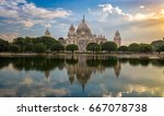 victoria memorial kolkata at... | Shutterstock . vector #667078738