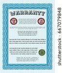 light blue vintage warranty... | Shutterstock .eps vector #667079848