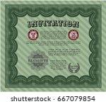 green formal invitation.... | Shutterstock .eps vector #667079854