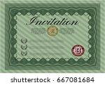 green vintage invitation... | Shutterstock .eps vector #667081684
